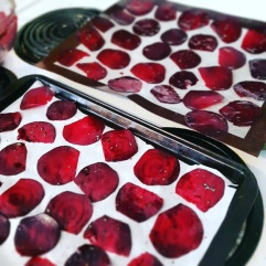 uncooked beet chips